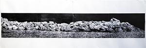 La Riva 岩岸 Wood Engraving 木口木刻 32x184cm Edition no. 12